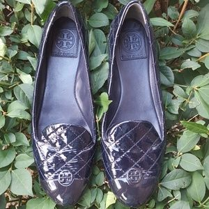 Tory Burch   Navy Patent Loafers
